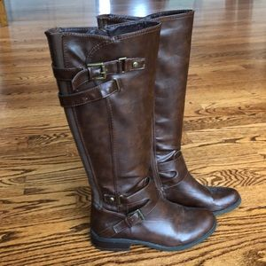 G by Guess Brown Leather Riding Boots